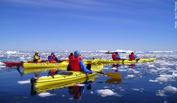 Kayaking in the Antarctic