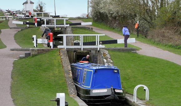 Navigate the locks on a canal holiday in the UK