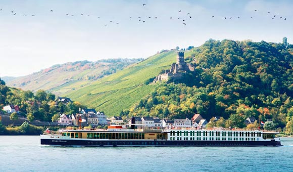 Cruise past cliff-top castles and riverside towns on a Europe river cruise