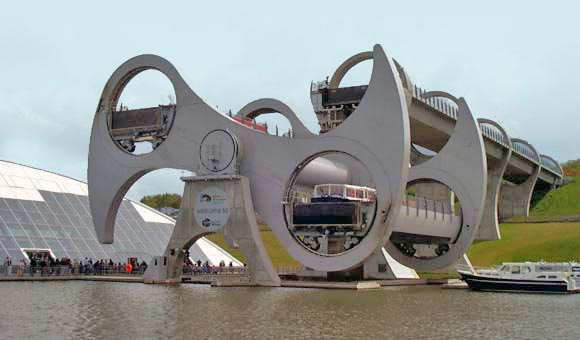 Try the spectacular Falkirk Wheel
