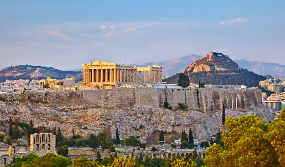 See ancient ruins in the Mediterranean