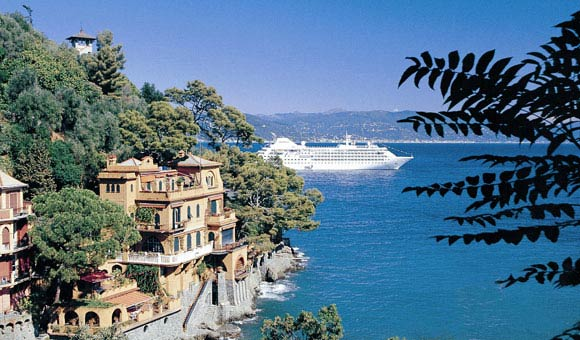 Silversea Cloud in Portofino Italy
