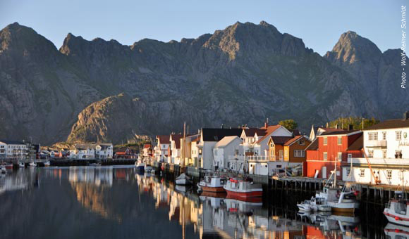 Lofoten Islands Harbour Scene