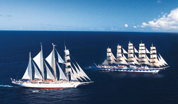 Royal Clipper and Star Clipper